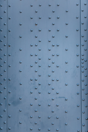 Steel plates and Rivets Stockfoto