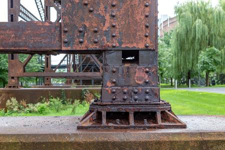 Rusty Metal Rivets Zdjęcie Seryjne