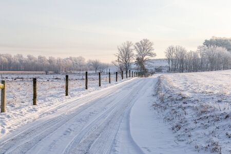 Lane in the Snow