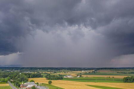 Thunderstorm Down burst Over Pennsylvania Farms