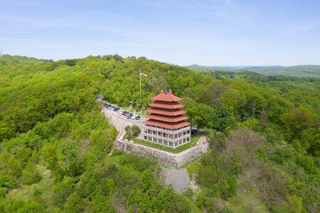 Reading Pagoda on the Hill Stockfoto