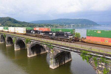 Norfolk Southern Train on the Rockville Bridge