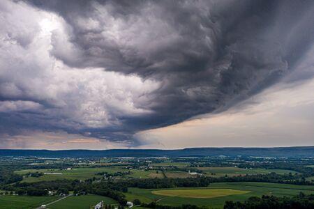 Summer Thunderstorm Over Berks County Pennsylvania