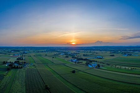 Sunset Over New Holland in Rural Lancaster County
