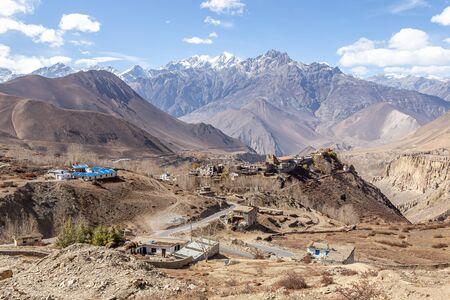 Himalayas at Muktinath Nepal Stockfoto