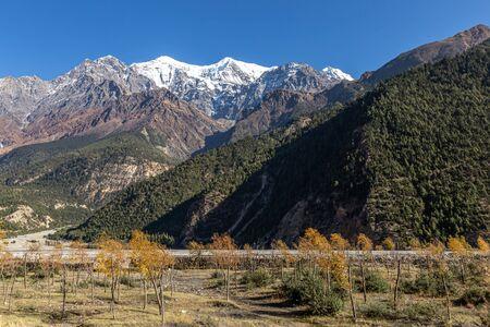 Nilgiri North Peak in the Himalayas in Nepal