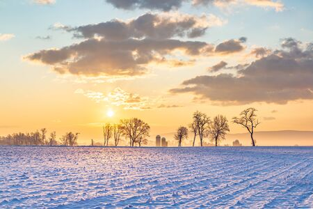 Country Sunrise in Pennsylvania in the Winter