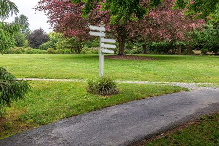 Directional Signs at Walkway
