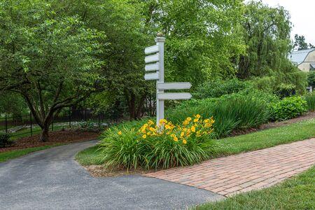 Directional Signs at Brick Path