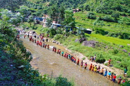 People in River - Nepal