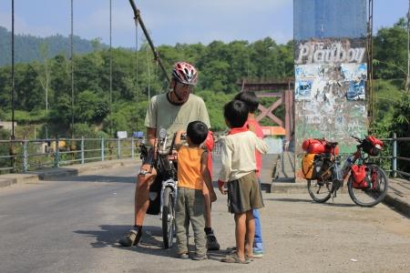 Children on Biketour - Nepal Editorial