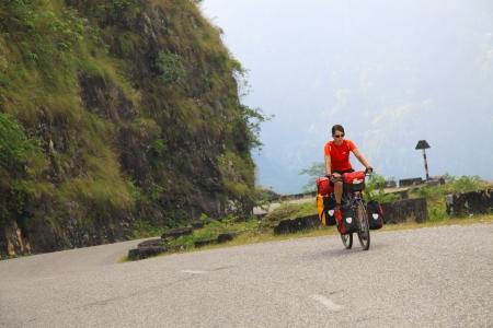 Cyclist on Tour - Nepal