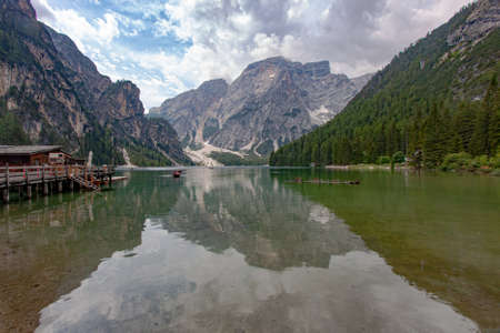 The Pragser Wildsee is a mountain lake in the Braies Valley in the South Tyrolean municipality of Braies.
