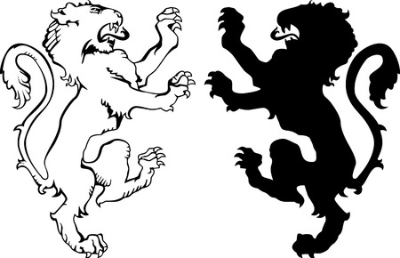 Lion silhouettes Vector