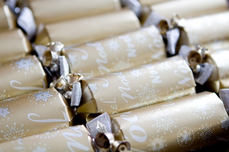 Christmas crackers Reklamní fotografie