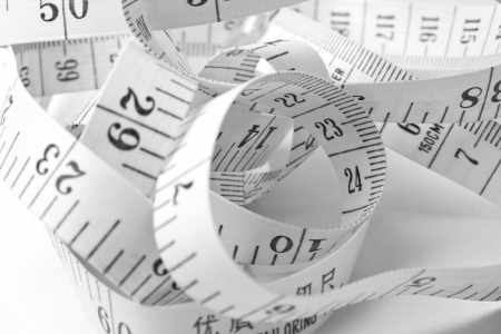 measure height: Measuring Tape Stock Photo