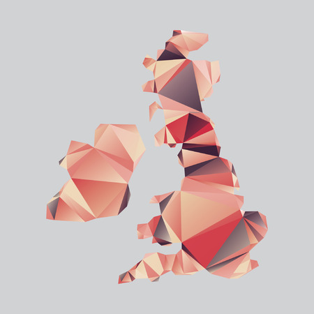 british isles: Vector shape of the British Isles in s polygonal style Illustration