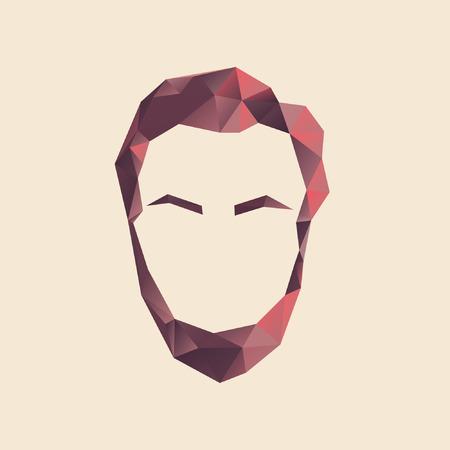 A polygon man  vector