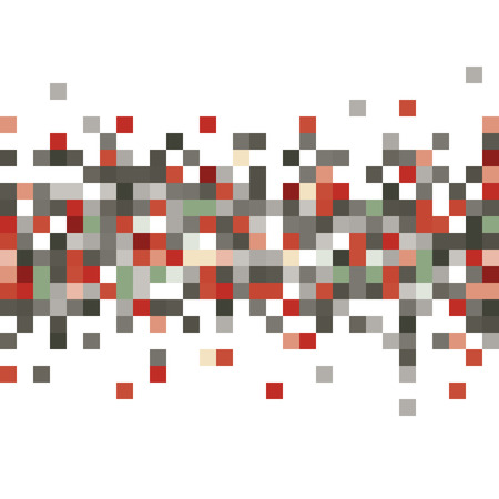scattering: Pixel pattern isolated over white Illustration