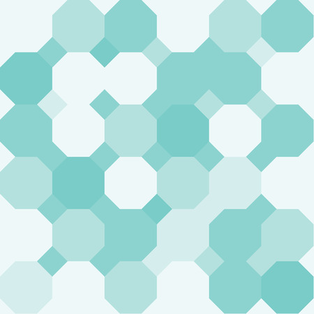 Green octagon shape pattern background Illustration