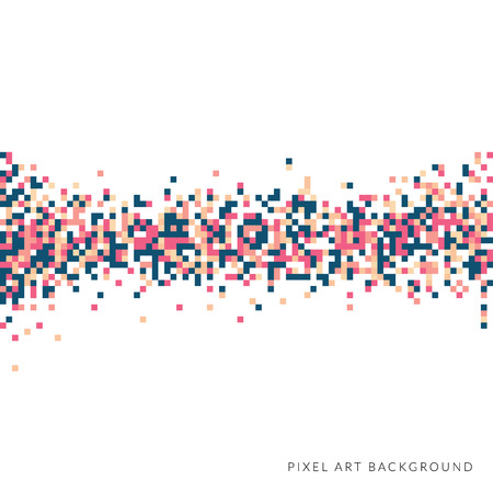 An abstract pixel art style vector background