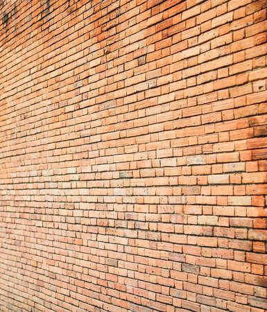Ancient brick wall in Chiang Mai, Thailand
