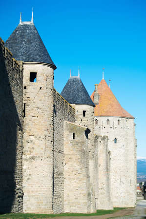 Carcasson castle in France Editorial