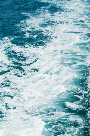 Water in the sea hit by boat