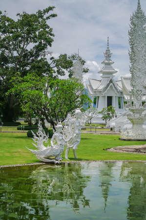 Wat Rongkhun (white temple) in Chiang Rai