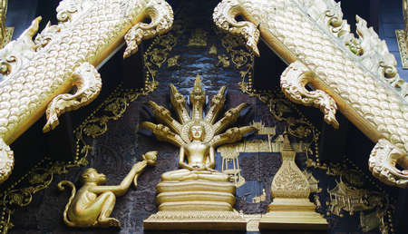 temple roof in Chiang Rai