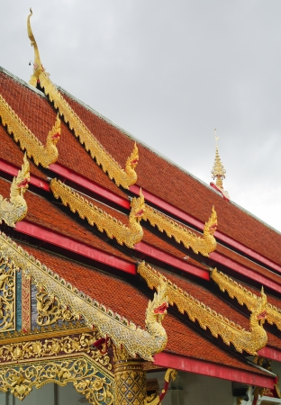 northern style temple in thailand
