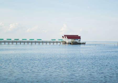 Pavillon on the sea