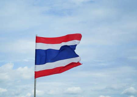 thai flag waving Stock Photo