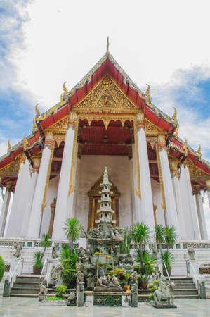 Wat Sutat in Bangkok Stock Photo