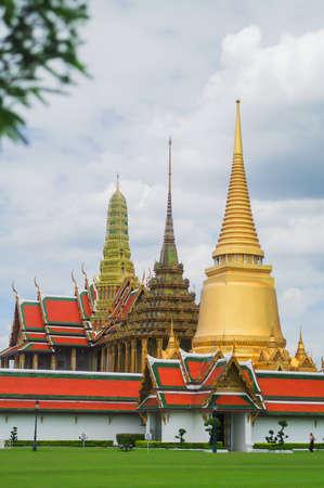 Wat Prakaew and the Gran Palace in Bangkok Stock Photo