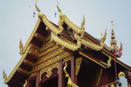 Northern style temple, Thailand Stock Photo