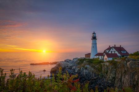 Portland Head Light Sunrise in Maine