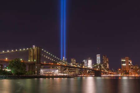 September 11th Memorial from Brooklyn Bridge Park