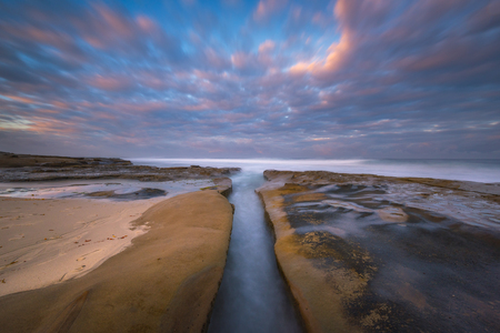 A water filled channel at La Jolla California Stock Photo