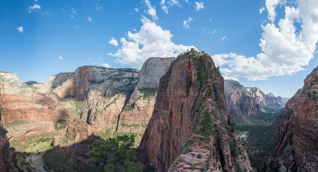 Angels Landing trail in Zion National Park Фото со стока