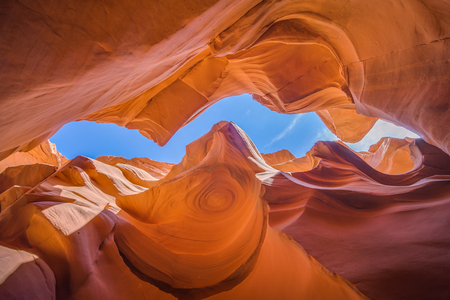 Lower Antelope Canyon in Arizona carved by water erosion