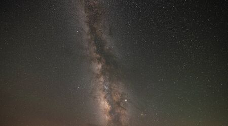 Milky Way Galaxy surrounded by stars