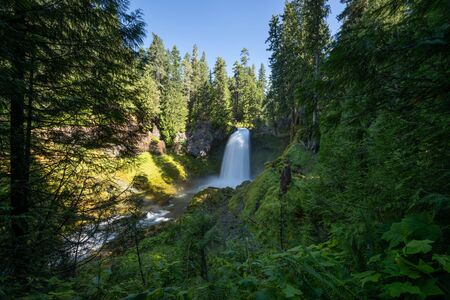 Sahalie Falls along the McKenzie River in Willamette Forest in Oregon