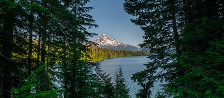 Beautiful view from Lost Lake of Mount Hood and the wilderness Stock fotó