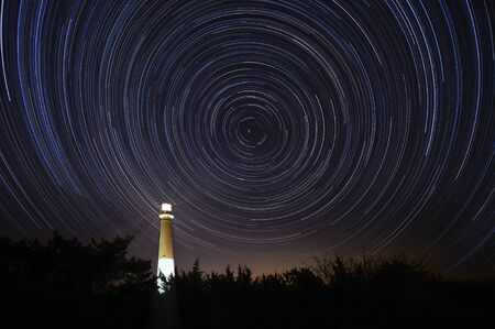 Star Trails over Barnegat Lighthouse in New Jersey