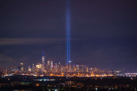 Tribute In Light memorial from Eagle Rock in New Jersey on September 11th