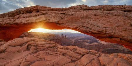 Mesa Arch in Moab Utah at sunrise in Moab Utah