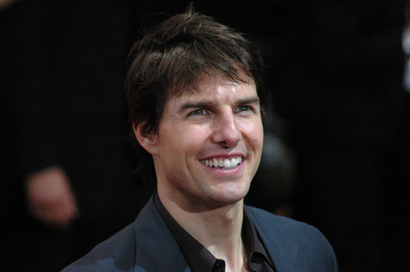 BERLIN, JUNE 14, 2005: Tom Cruise looks into the camera  at the German premiere of the film War of the Worlds in Berlin.