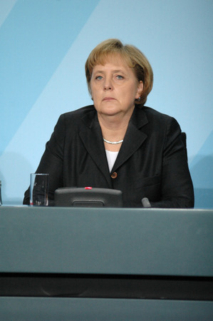 chancellor: DECEMBER 19, 2007 - BERLIN: Chancellor Angela Merkel during a press conference in the Chanclery in Berlin.