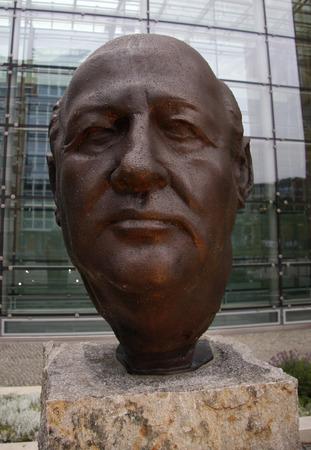 bust: Portrait Bust of Mikhail Gorbachev.